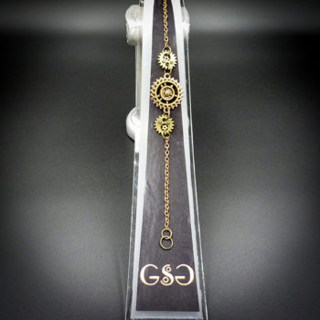 Steampunk Bracelet that is part of the Steampunk Gems collection
