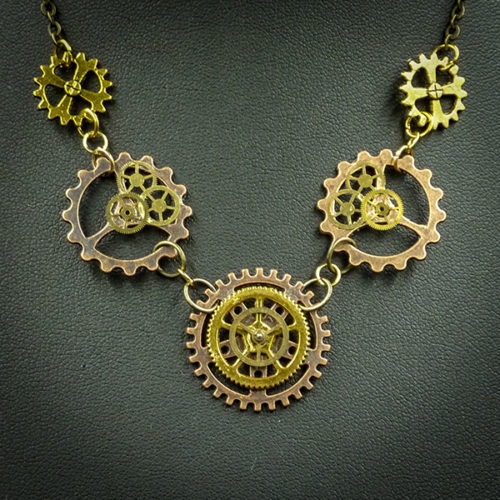 Steampunk Necklace by Gwendolyne's Steampunk Gems