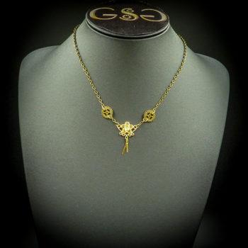 Steampunk Necklace by Gwendolyne's Steampunk Gems