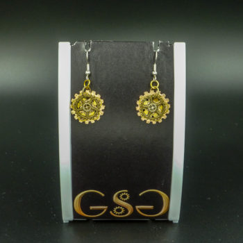 Roza - Steampunk Earrings by Gwendolyne's Steampunk Gems