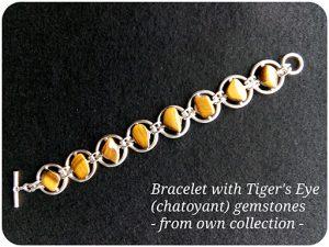Bracelet with Tiger Eyes