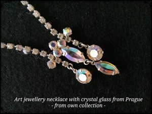 Crystal Glass Necklace from Prague