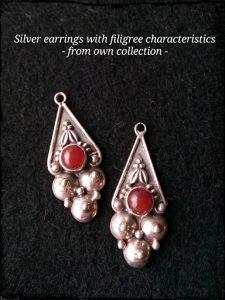 Silver Earrings Filigree